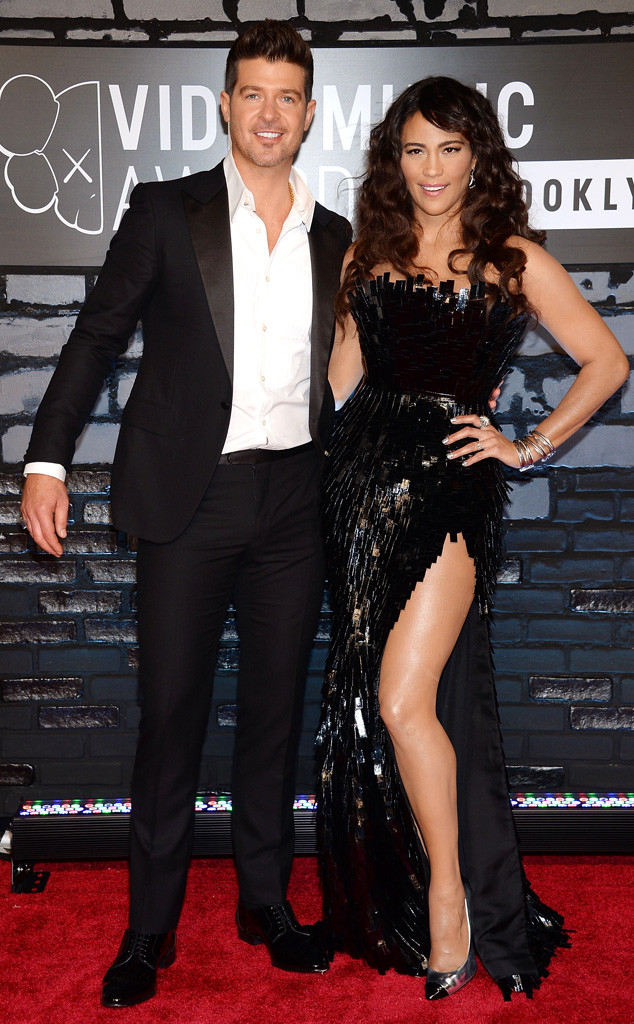 Robin Thicke with his ex-wife Paula Patton