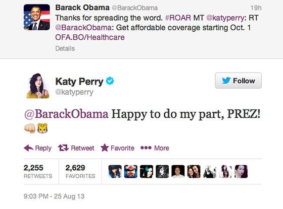 Barack Obama, Katy Perry