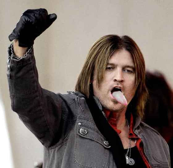 Billy Ray Cyrus with tongue