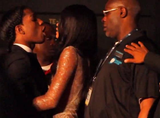 A$AP Rocky, Chanel Iman, Security Guard