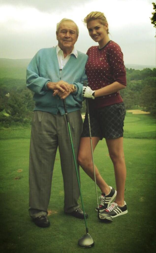 Kate Upton, Arnold Palmer, Twitter