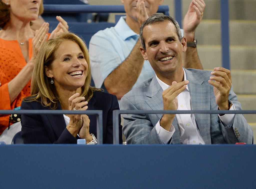 Katie Couric, John Molner, US Open