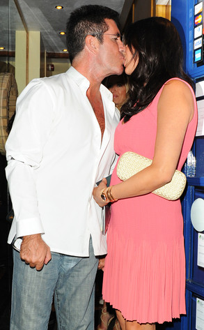 Simon Cowell, Lauren Silverman, Kissing