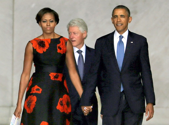 Barack Obama, Michelle Obama, Bill Clinton