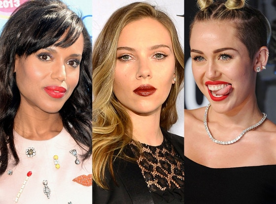 Kerry Washington, Scarlett Johansson, Miley Cyrus