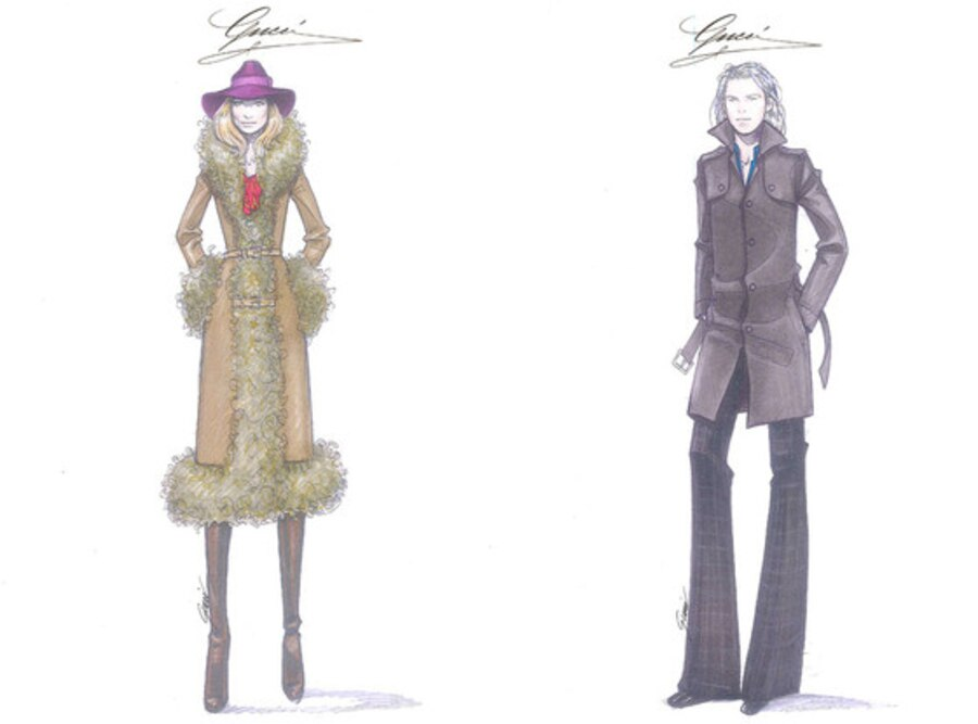 Gucci Rush Film Costume Sketches