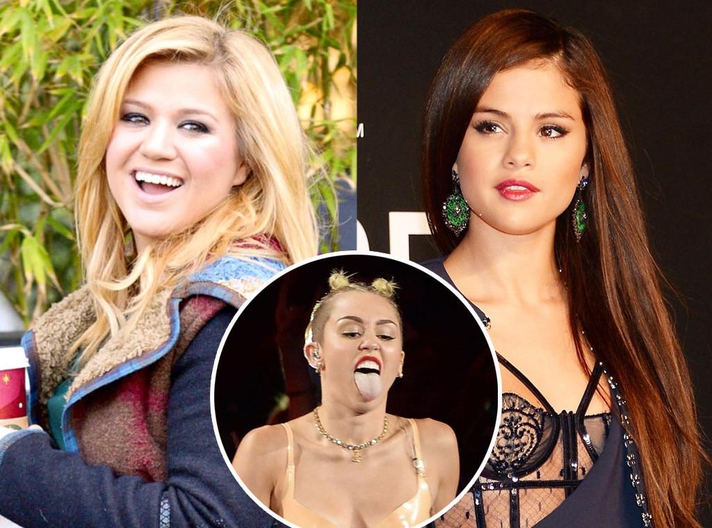 Selena Gomez, Kelly Clarkson, Miley Cyrus
