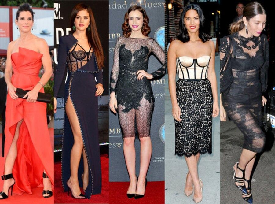 Best Dressed: Sandra Bullock, Selena Gomez, Lily Collins, Olivia Munn, Jessica Biel