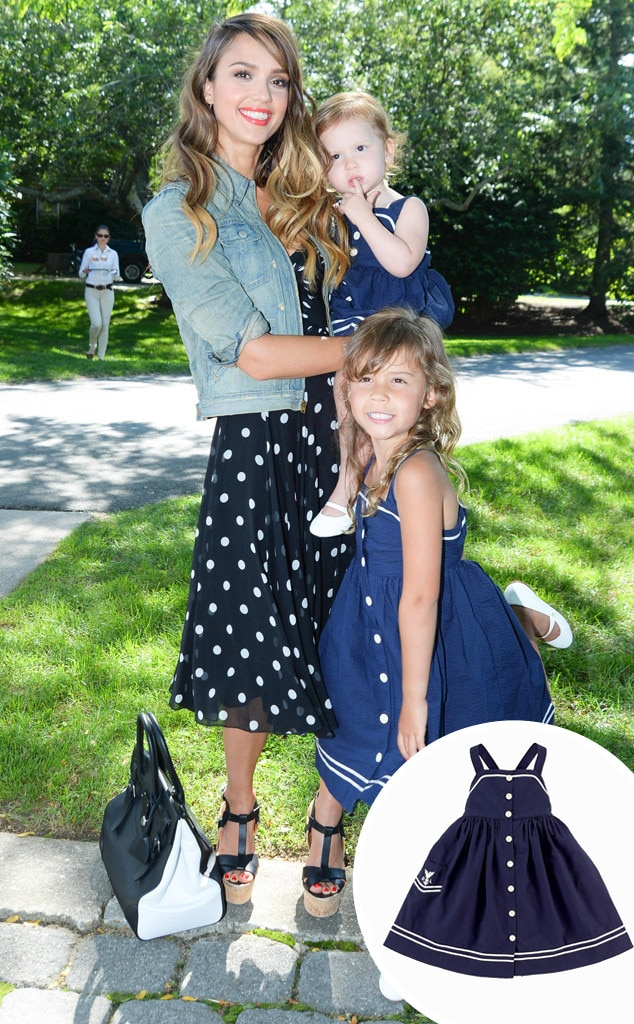 Jessica Alba, Haven Warren, Honor Warren, Back to School