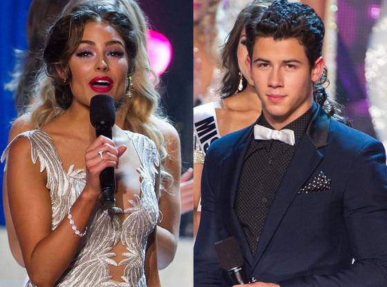 Olivia Culpo, Nick Jonas, Miss Universe 2012