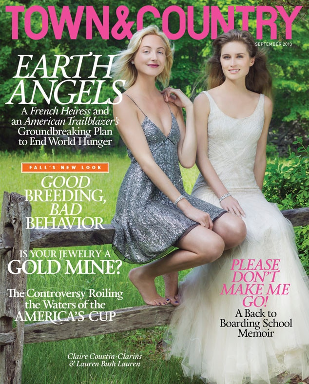 Lauren Bush Lauren, Claire Courtin-Clarins, Town&Country