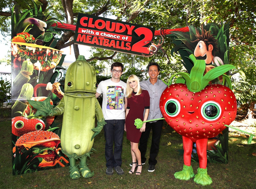 Bill Hader, Anna Faris, Benjamin Bratt, Cloudy with a Chance of Meatballs 2