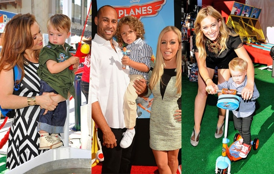 Alyssa Milano, Hank Baskett, Kendra Wilkinson Baskett, Hilary Duff