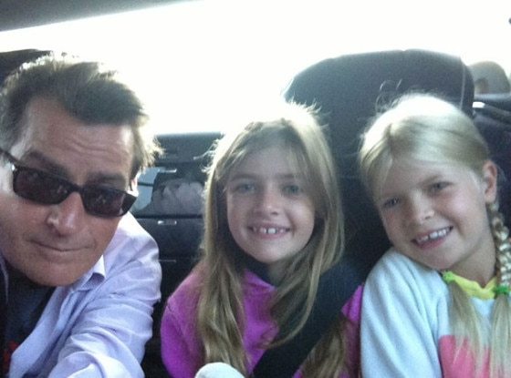 Charlie Sheen, Daughters, Twit Pic