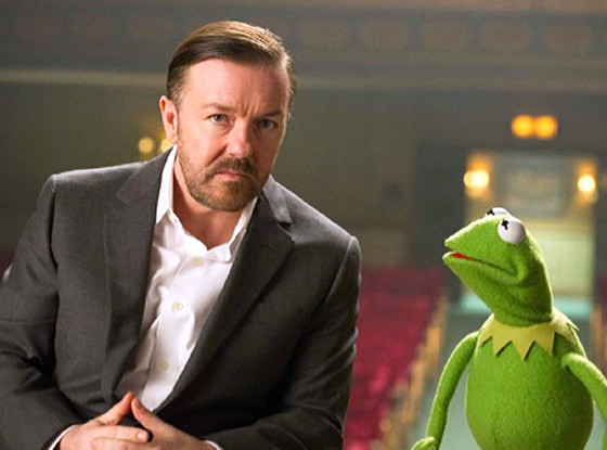 Muppets Most Wanted, Ricky Gervais, Kermit the Frog