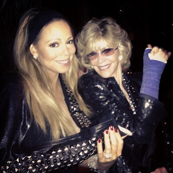 Mariah Carey, Jane Fonda, Instagram