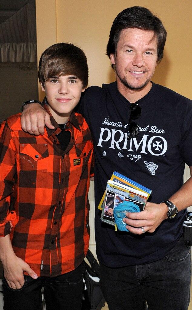 Justin Bieber, Mark Wahlberg