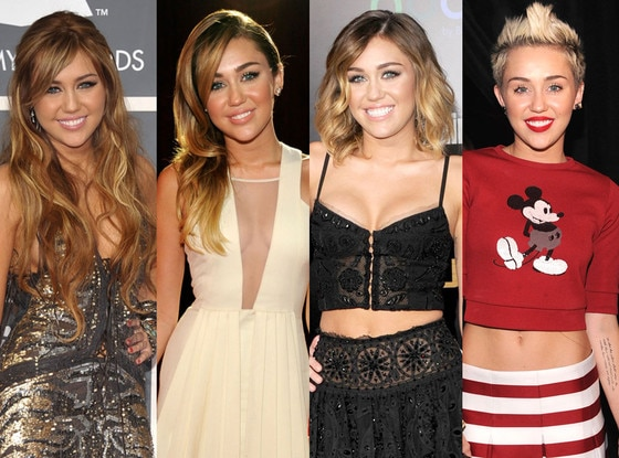 Miley Cyrus, Celeb Hair Transformations