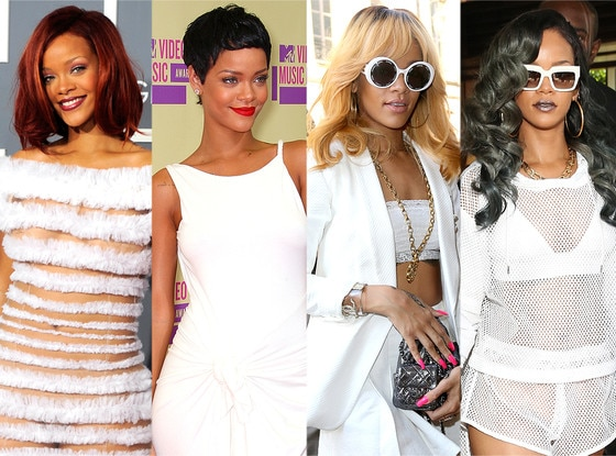 Rihanna, Hair Transformations