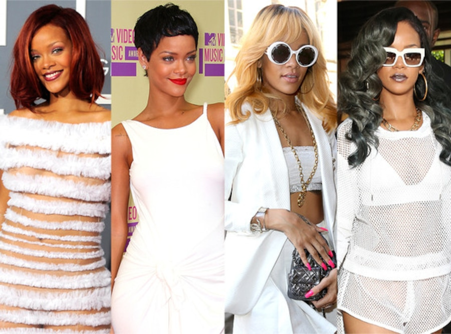Rihanna, Hair Transformations