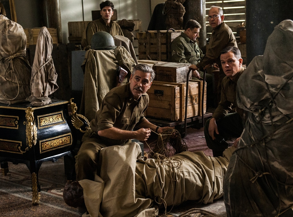 Matt Damon, George Clooney, The Monuments Men