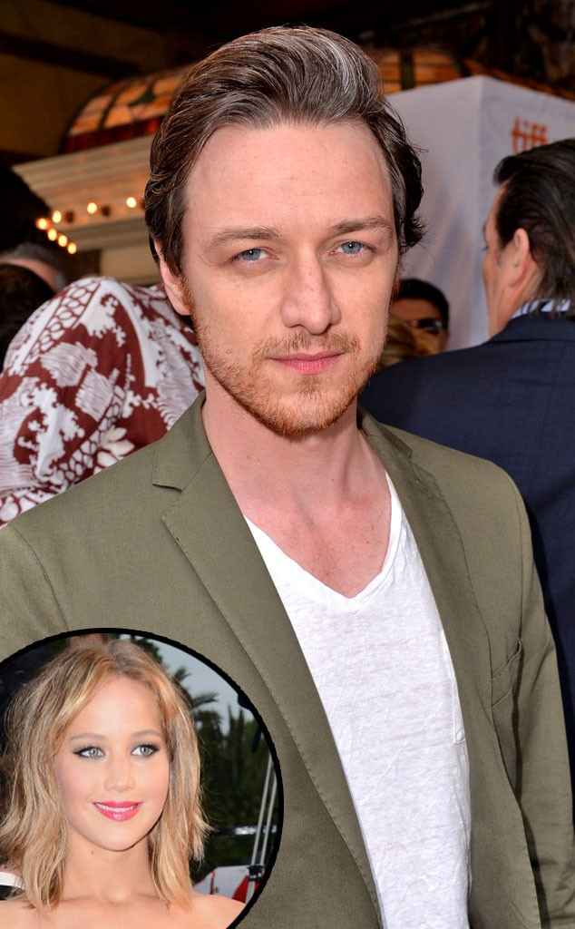 James McAvoy, Jennifer Lawrence