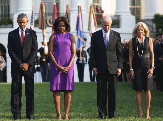 President Barack Obama, first lady Michelle Obama, Vice President Joseph Biden, Jill Biden