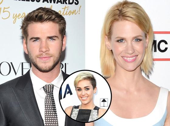 Liam Hemsworth, Miley Cyrus, January Jones
