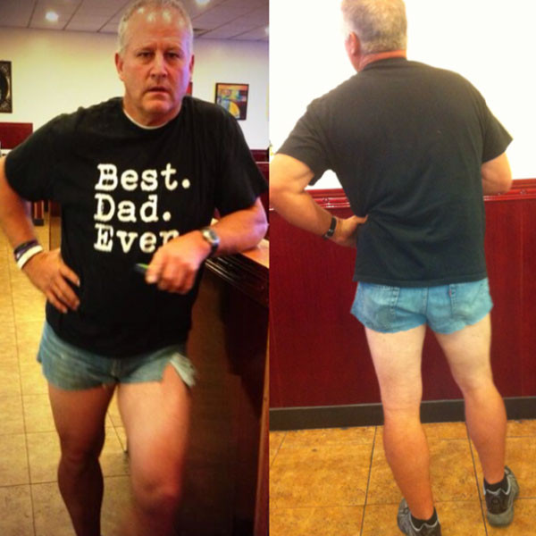 Dad in Short Shorts