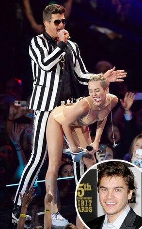 Miley Cyrus, Emile Hirsch, Twerking, VMA