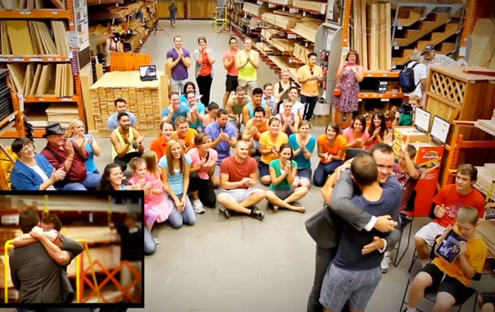 Home Depot Marriage Proposal