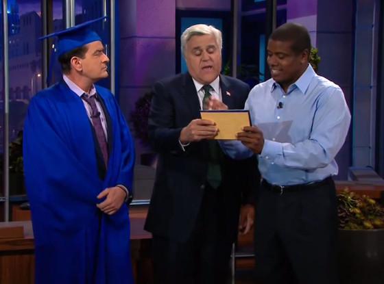 Charlie Sheen, Jay Leno, The Tonight Show