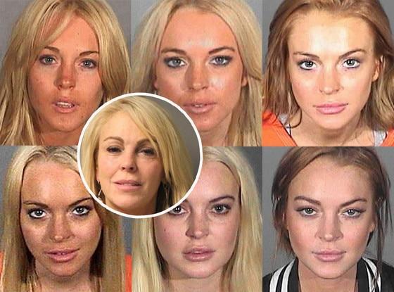 Lindsay Lohan, Dina Lohan, Mugshots