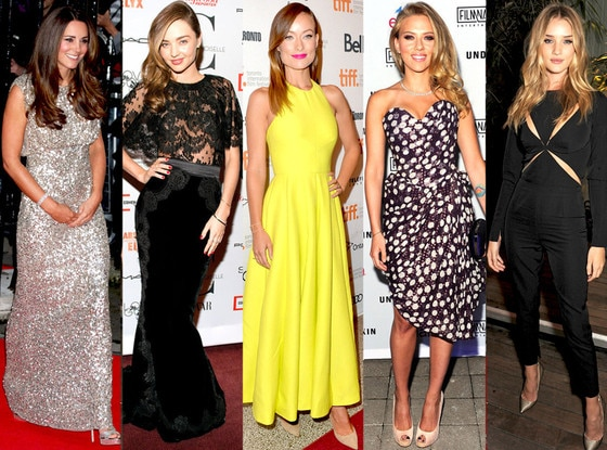 Kate Middleton, Rosie Huntington-Whiteley, Olivia Wilde, Scarlett Johansson, Miranda Kerr