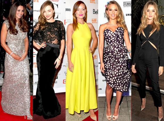 Kate Middleton, Rosie Huntington-Whiteley, Olivia Wilde, Scarlett Johansson, Miranda Kerr
