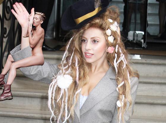 Miley Cyrus Wrecking Ball Meme, Lady Gaga