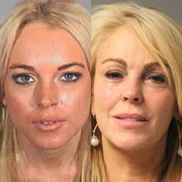 Dina Lohan, Lindsay Lohan Mugshot