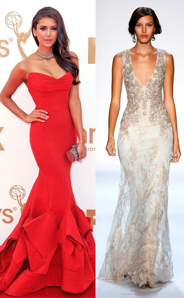 Nina Dobrev, Emmy Awards, Badgley Mischka Model