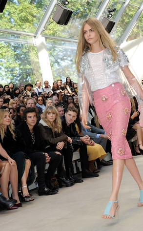 Sienna Miller, Harry Styles, Suki Waterhouse, George Barnett, Cara Delevingne, London Fashion Week
