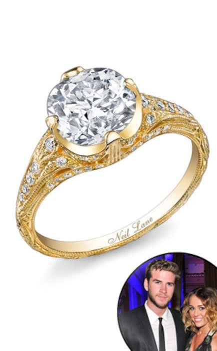 Miley Cyrus, Liam Hemsworth, Engagement Ring