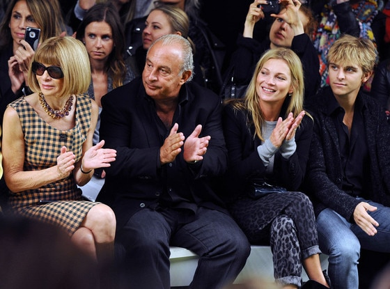 Anna Wintour, Sir Phillip Green, Kate Moss, Brandon Green, London Fashion Week