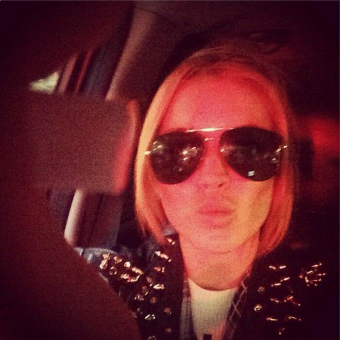 Lindsay Lohan, Instagram