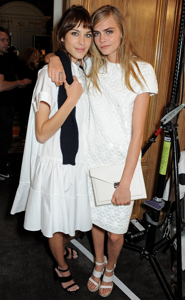 Alexa Chung, Cara Delevingne, London Fashion Week