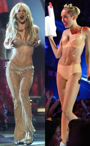 Britney Spears, Miley Cyrus