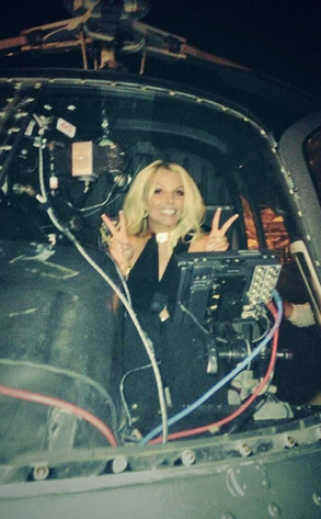 Britney Spars, Twitter, Helicopter