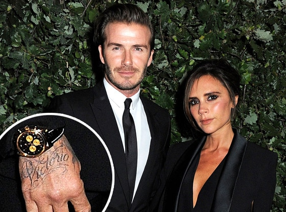Victoria Beckham, David Beckham, Tattoo
