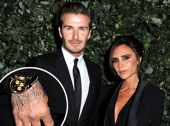 Victoria Beckham, David Beckham, Tattoo