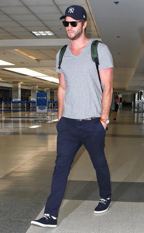 Liam Hemsworth, LAX