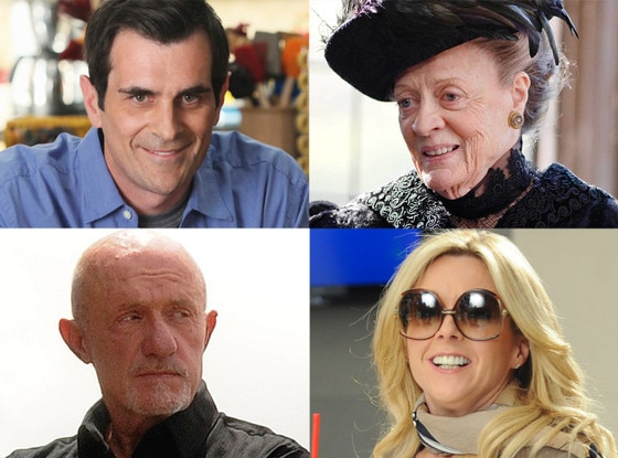 Maggie Smith, Downton Abbey Ty Burrell, Modern Family Jonathan Banks, Breaking Bad Jane Krakowski, 30 Rock