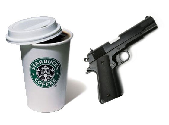 Starbucks, Gun